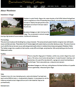 www.barnabeesholidaycottages.co.uk - Westletone page