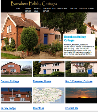 www.barnabeesholidaycottages.co.uk - Front page