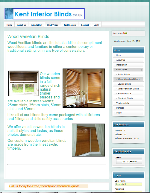 www.kentinteriorblinds.co.uk - Wood venetian page