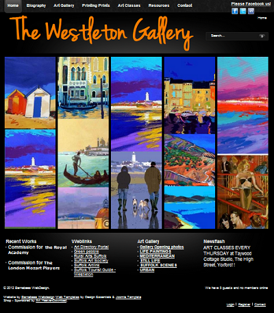 www.westletongallery.co.uk - Front page