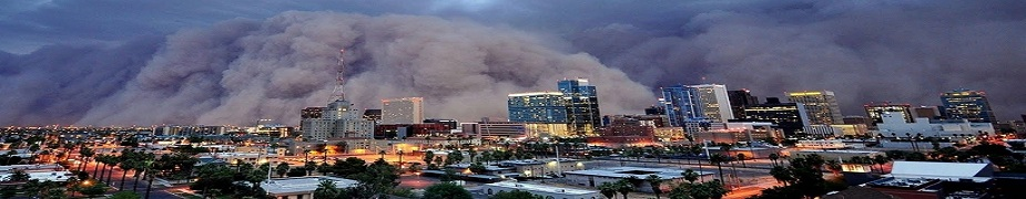A monstrous dust storm (Haboob) roared through Phoenix, Arizona in July 2011.